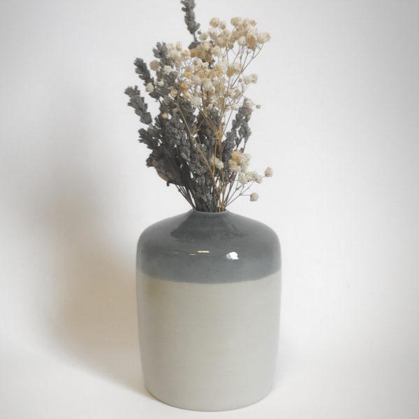 Soliflore en Grès de la collection Bicrome - Pièce tournée à l'atelier - Céramique alimentaire et décorative